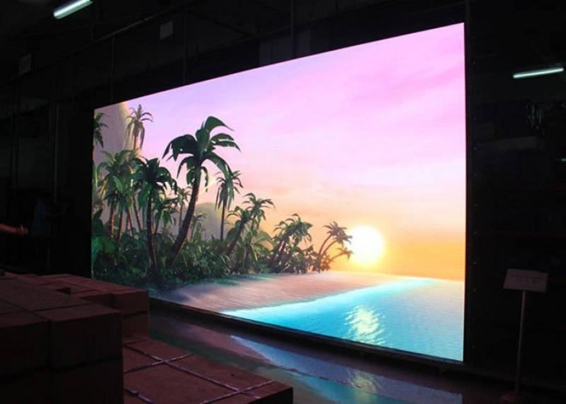 Painel de Led Indoor P4 para Locação Caieiras - Painel de Led 3mm Indoor