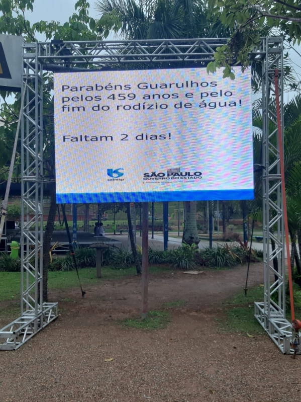 Painel de Led Outdoor Valor Caierias - Painel de Led Outdoor P10