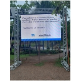 painel de led outdoor valor Santos